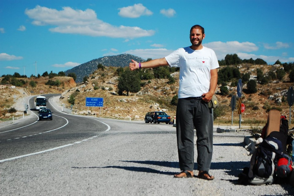 08 hitchhiking in Turkey